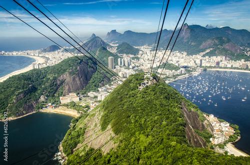 Poster de jardin Rio de Janeiro Blick vom Zuckerhut, Rio, Brasilien
