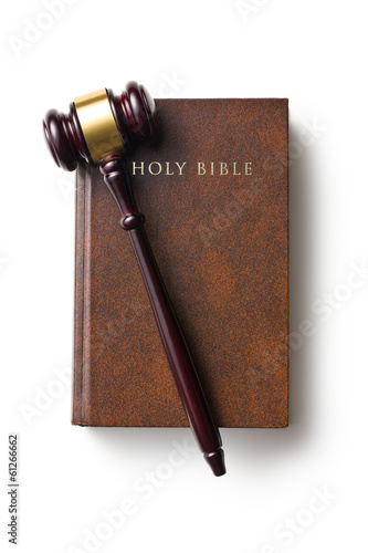 judge gavel on holy bible