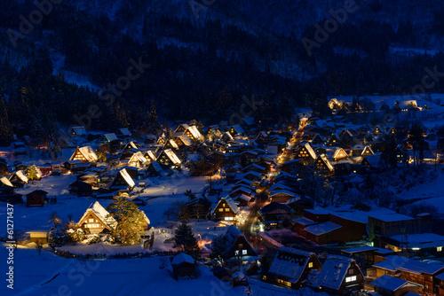 Foto op Aluminium Scandinavië Historic Village of Shirakawa-go in winter