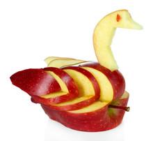 Carving Fruit Pattern Of Swan ...