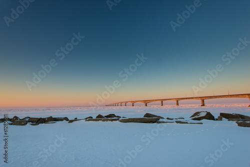 Photo  Confederation Bridge at sunrise