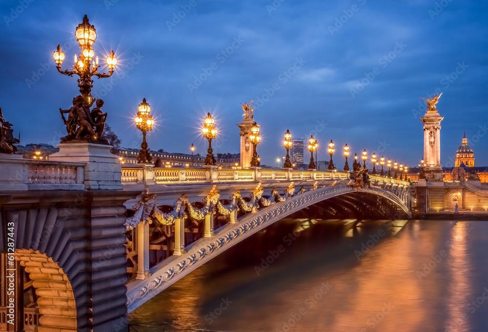 Fototapety, obrazy: Pont Alexandre III in Paris