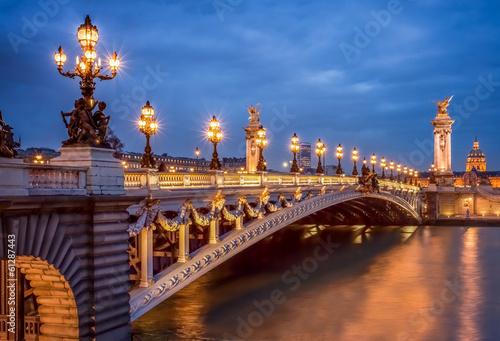 Poster Paris Pont Alexandre III in Paris