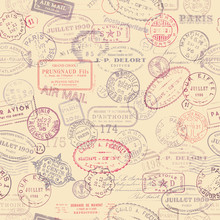 Postage Themed Background With...