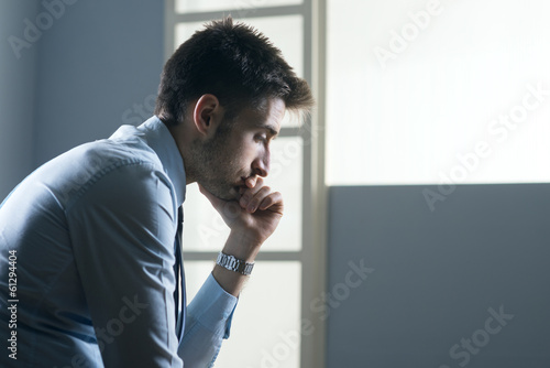 Fotografie, Obraz  Tired pensive businessman