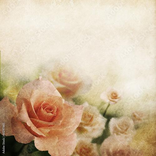 Keuken foto achterwand Retro Retro rose background