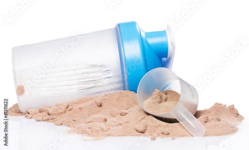 Fotografia  Shaker and protein powder