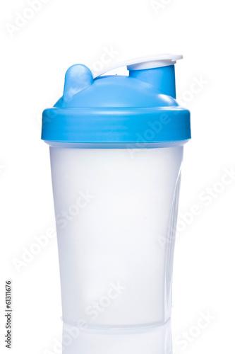 Canvas Print Empty protein shaker
