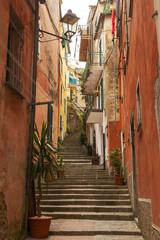 Fototapeta Uliczki narrow stairway