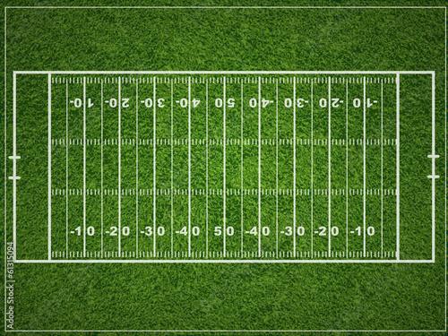 Photo A vector grass textured American football field.