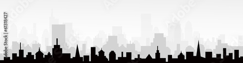 Foto op Plexiglas Grijs City Skyline-vector