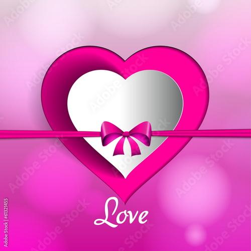 Photo  Love theme, Valentine Romantic card on a soft blurry background,