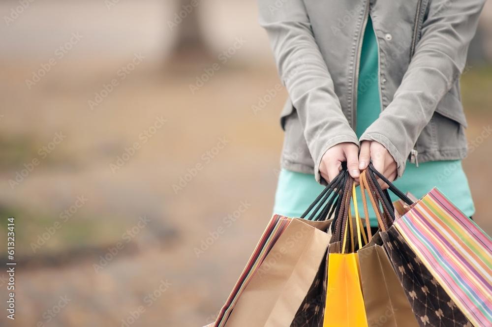 Fototapeta Concept of woman shopping