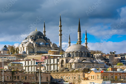 Photo  Suleymaniye Mosque in Istanbul, Turkey