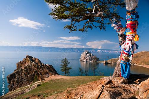 Landscape at the Baikal lake in Siberia Canvas Print