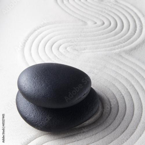 Tuinposter Stenen in het Zand Zen stone