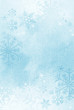 canvas print picture - Textured winter snowflake background with room for copy space.