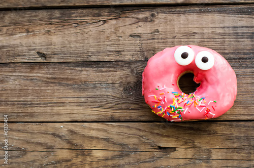 Photo  Cute donut on a breakfast