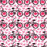 Romantyczny wzór z rowerami - 61332016