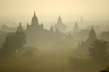 Temples Of Bagan In Early Morning. Myanmar (Burma).
