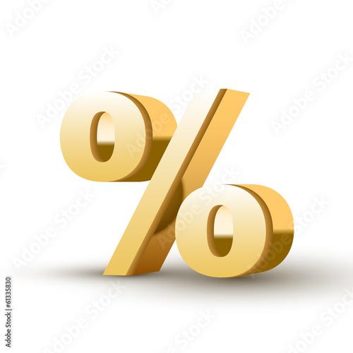 Fotografía  golden percent symbol