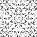 Wektorowy bezszwowy retro bicyklu wzór. - 61336088