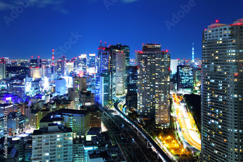Spoed Foto op Canvas Tokyo Tokyo cityscape at night