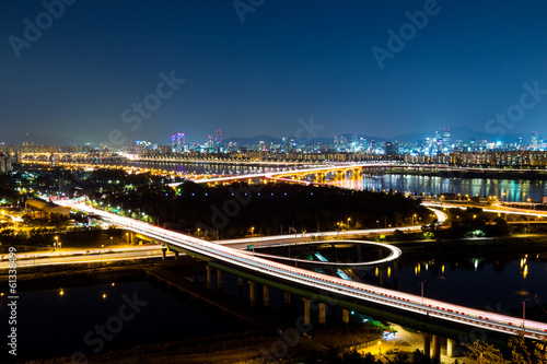 Seoul cityscape Poster