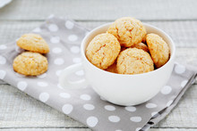 Almond Cookies, A Cup Of White Amarettini