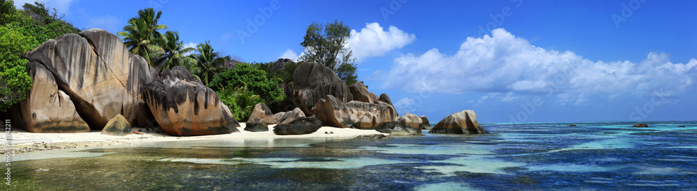 Fototapeta panorama des seychelles