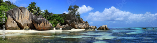 Foto op Canvas Panoramafoto s panorama des seychelles