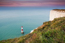 Beachy Head Lighthouse At Sunrise