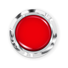 Big Red Button With Metallic B...