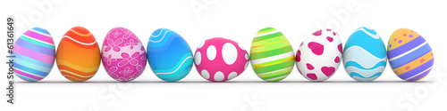 Photo  colorful easter eggs