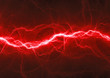 canvas print picture - Red fantasy lightning
