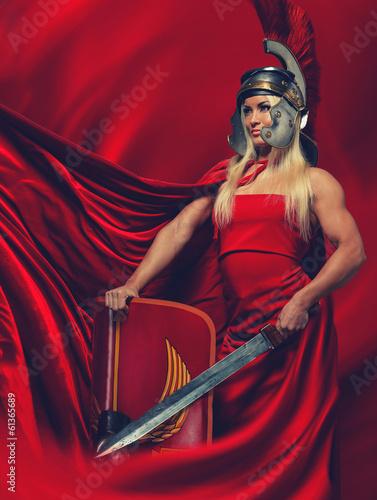 Obraz na plátne Legionary soldier,prepare for the fight.