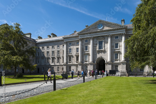 The grounds of Trinity College, Dublin, Ireland Poster