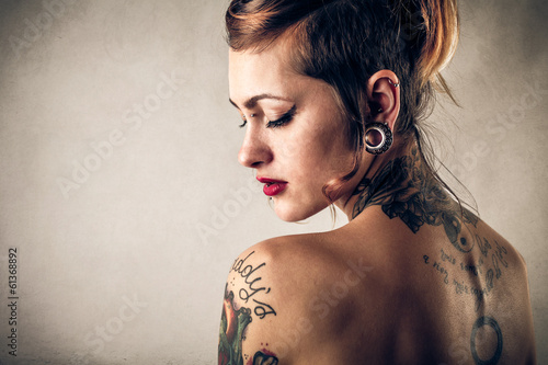 tattoos and beauty Fotobehang