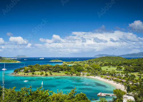 Cadres-photo bureau Caraibes St John USVI