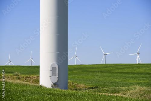 Fotobehang Fantasie Landschap wind energy