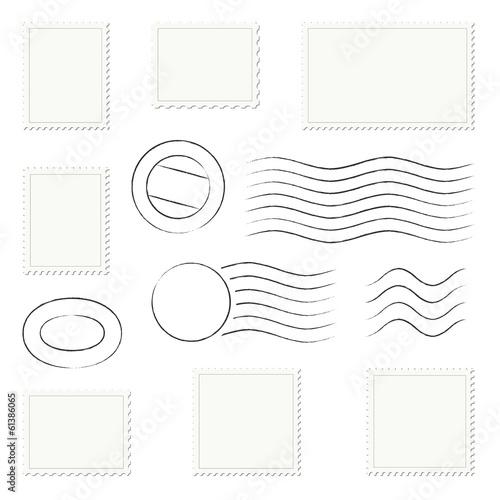 Fotografía  Sammlung - Briefmarken + Stempel