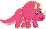 Fototapeta Dinusie - Illustration of dinosaur cartoon