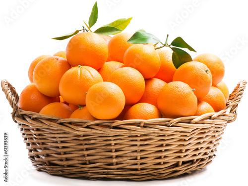 Oranges in a basket