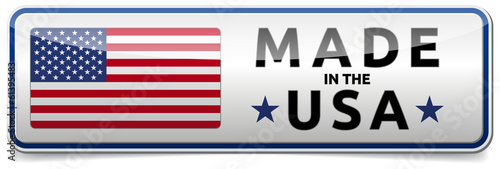 USA flag - Made in America Poster