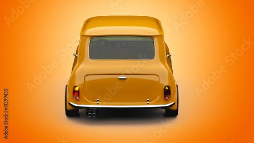 Staande foto Cartoon cars Mini car