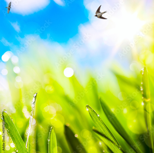 Poster Jaune abstracts spring background