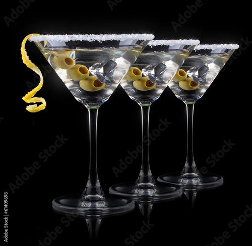 Láminas  Cocktail martini on a black