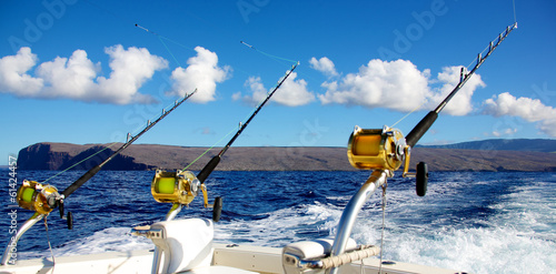 Tuinposter Vissen Deep sea fishing in Hawaii