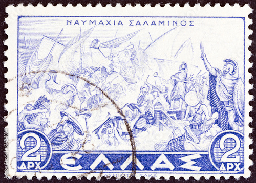 Valokuvatapetti Naval Battle of Salamis (Greece 1937)