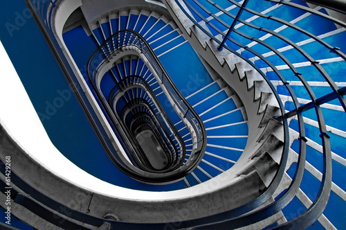 Photo Stands Stairs Blue staircase